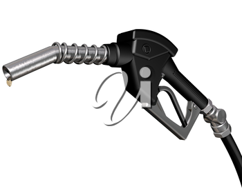 Royalty Free Clipart Image of a Gas Pump Nozzel