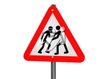 Royalty Free Clipart Image of a Traffic Sign