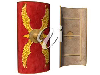 Royalty Free Clipart Image of a Roman Shield