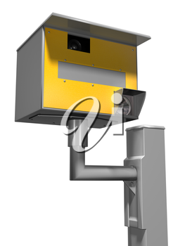 Royalty Free Clipart Image of a Road Safety Speed Camera