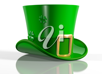 Illustration of an Irish leprechaun top hat