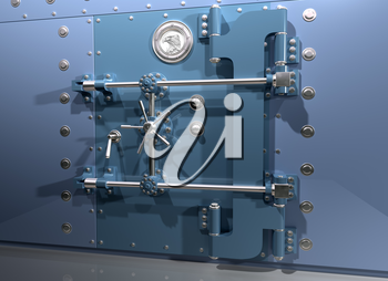 Illustration of a very secure bank vault