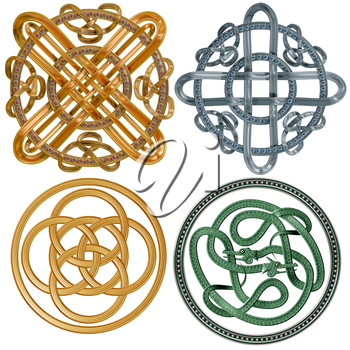 A collection of intricate Celtic Knots based on a circle