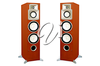 Royalty Free Clipart Image of Two Speakers