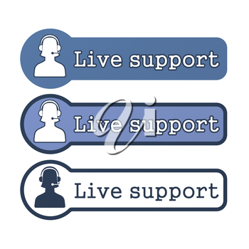 Website Element: Live Support on White Background.