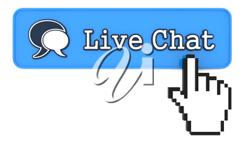 Live Chat Button with  Hand Shaped mouse Cursor.