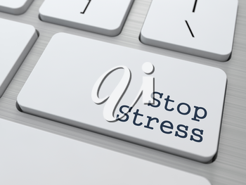 Stress Concept. Button on Modern Computer Keyboard.