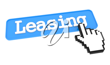 Leasing Button with  Hand Shaped mouse Cursor