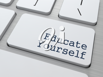 Educate Yourself - Button on Modern Computer Keyboard.