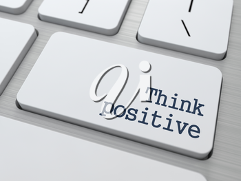 Positive Thinking Concept. Button on Modern Computer Keyboard with Word Partners on It.