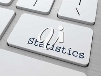 Statistics Concept. Button on Modern Computer Keyboard with Word Statistics on It.
