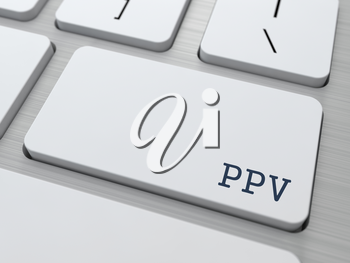 PPV - Information Concept. Button on Modern Computer Keyboard.