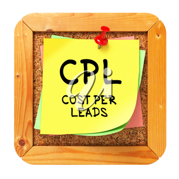 Royalty Free Clipart Image of a Sticker on a Cork Board