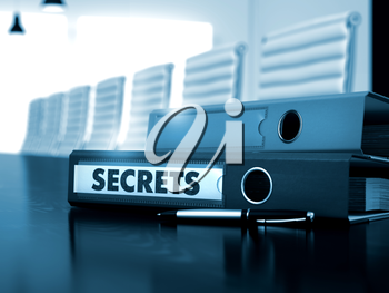 Secrets. Illustration on Toned Background. Secrets - Business Concept. Secrets - Business Concept on Toned Background. 3D Render.