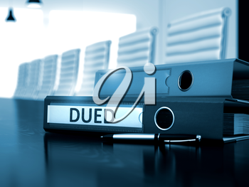 Dued. Illustration on Blurred Background. Dued - Business Concept. Dued - Business Concept on Blurred Background. 3D.