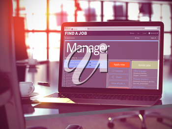 Manager - Opportunity for Advancement. Jobs Concept. 3D Illustration