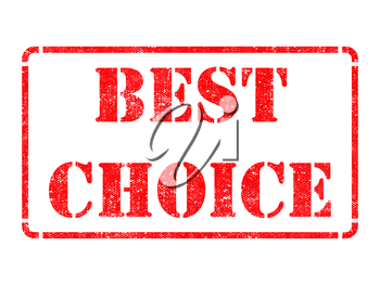Best Choice on Red Rubber Stamp Isolated on White.