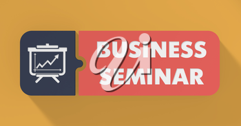 Business Seminar Concept in Flat Design with Long Shadows.