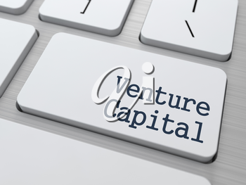 Venture Capital on White Keyboard Button on Computer Keyboard.