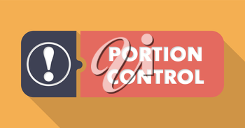 Portion Control Concept in Flat Design with Long Shadows.
