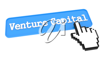 Venture Capital Button with Hand Cursor. Business Concept.