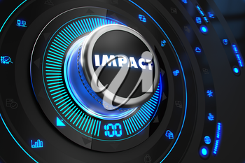 Royalty Free Clipart Image of an Impact Button