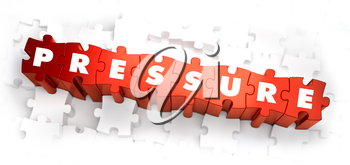 Royalty Free Clipart Image of Pressure Text on Puzzle Pieces