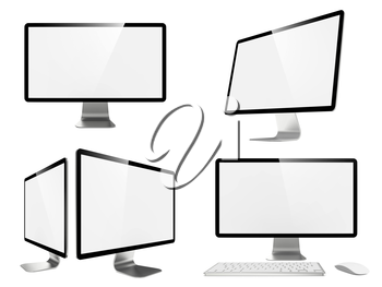 Royalty Free Clipart Image of Widescreen Lcd Monitors