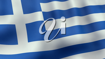 A 3D rendered still of a Greek flag, waving and rippling in the wind. Also available as loopable animated version in my portfolio.