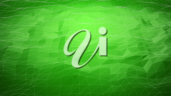 Green abstract polygonal background with wireframe lines. Computer generated 3d still.