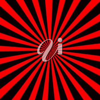 Starburst background, sunbeams going in all directions, red and black