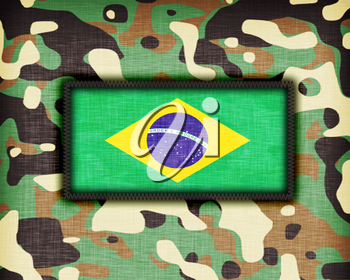 Amy camouflage uniform with flag on it, Brazil
