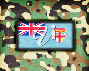 Amy camouflage uniform with flag on it, Fiji