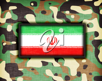 Amy camouflage uniform with flag on it, Iran