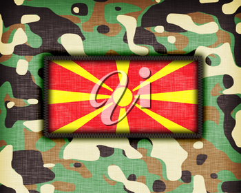 Amy camouflage uniform with flag on it, Macedonia