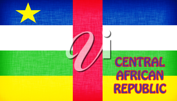 Flag of the Central African Republic stitched with letters, isolated