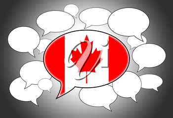 Speech bubbles concept - the flag of Canada
