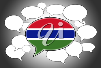 Communication concept - Speech cloud, the voice of the Gambia