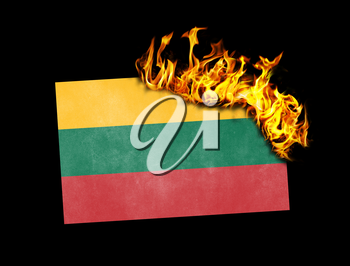 Flag burning - concept of war or crisis - Lithuania