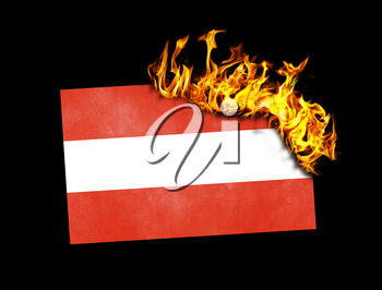 Flag burning - concept of war or crisis - Austria