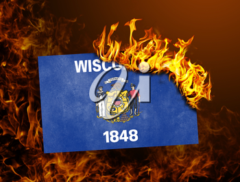Flag burning - concept of war or crisis - Wisconsin