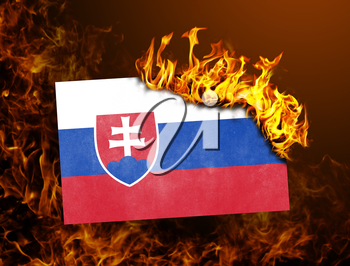 Flag burning - concept of war or crisis - Slovakia