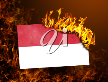 Flag burning - concept of war or crisis - Indonesia