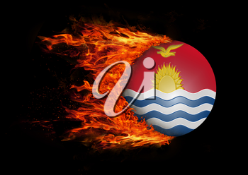 Concept of speed - Flag with a trail of fire - Kiribati
