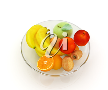 Citrus on a white background