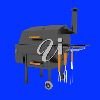 oven barbecue grill on a white background