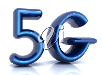 5g internet network. 3d text