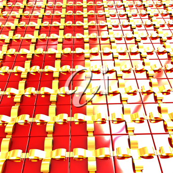 Bright christmas gift background