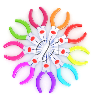 colorful pliers to work