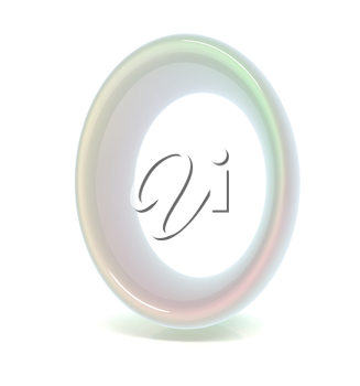 Glossy alphabet. The letter O